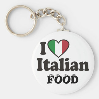 I Love Italian FOOD Keychain