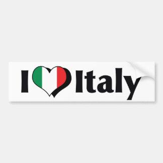 I Love Italy Flag Bumper Sticker