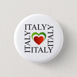 I love italy with italian flag colors 1 inch round button