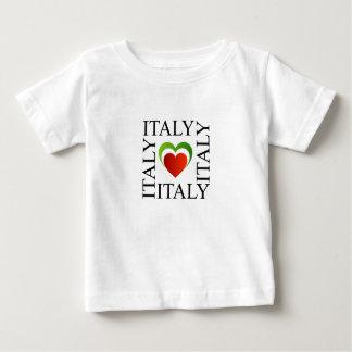 I love italy with italian flag colors baby T-Shirt