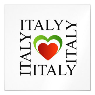 I love italy with italian flag colors magnetic invitations