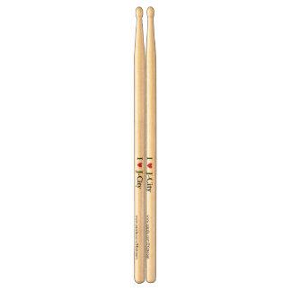 I LOVE J  (jerusalem) CITY  drum sticks