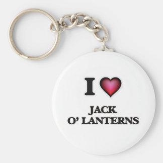 I Love Jack O' Lanterns Keychain