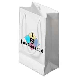 I Love Jack Russells Small Gift Bag