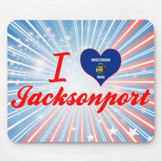 I Love Jacksonport, Wisconsin Mousepads