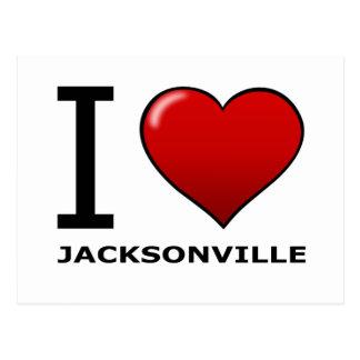 I LOVE JACKSONVILLE,FL - FLORIDA POSTCARD