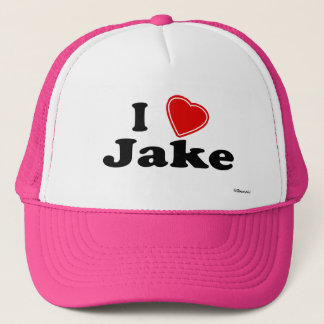 I Love Jake Trucker Hat