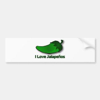 I Love Jalapenos Bumper Sticker