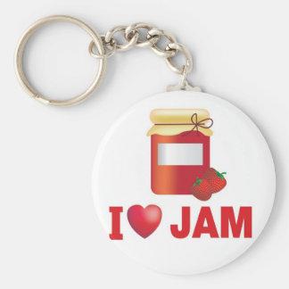 i love jam keychain