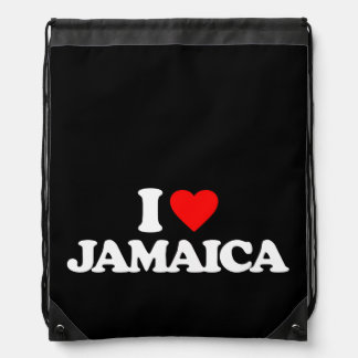 I LOVE JAMAICA CINCH BAG