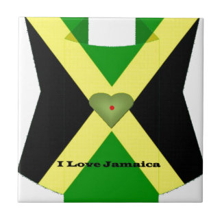 I Love Jamaica Have a Nice Day and a Better Night Ceramic Tiles