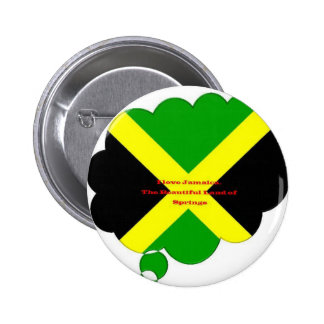 I Love Jamaica. The Beautiful Land of Springs 2 Inch Round Button