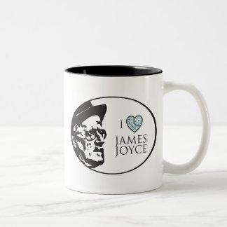 I Love James Joyce Two-Tone Coffee Mug