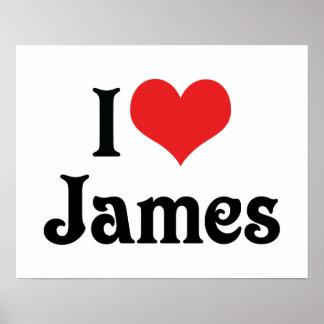 I Love James Poster