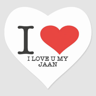 I love jan Heart Stickers, Glossy, Small, 1½ inch Heart Sticker