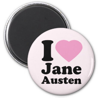 I Love Jane Austen Magnet