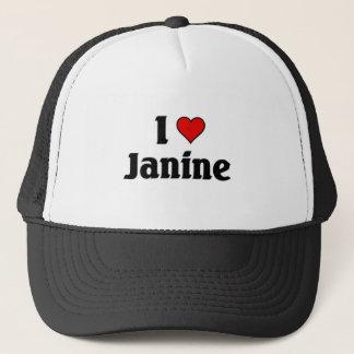 I love janine trucker hat