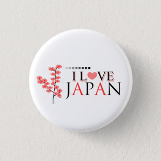 """""""I love Japan"""" design for Japan Lovers 1 Inch Round Button"""