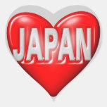I Love Japan Heart Sticker