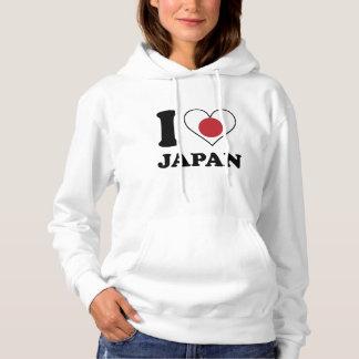 I Love Japan Japanese Flag Heart Hoodie