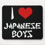 I Love Japanese Boys Mousepads