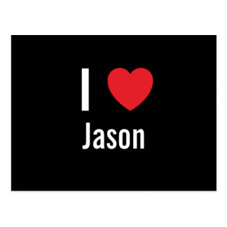 I love Jason Postcard