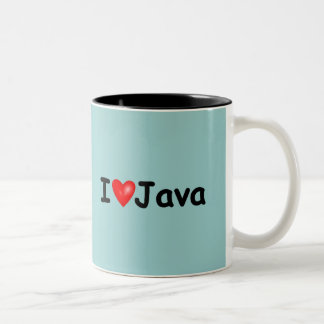 I Love Java Two-Tone Coffee Mug