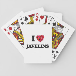 I Love Javelins Playing Cards