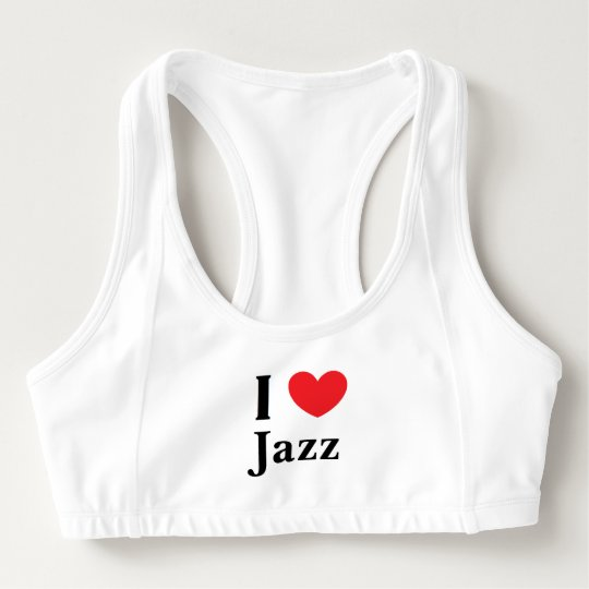 """I Love Jazz"" Alo Sports Bra"