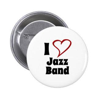 I Love Jazz Band 2 Inch Round Button