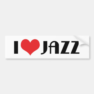 I Love Jazz Bumper Sticker