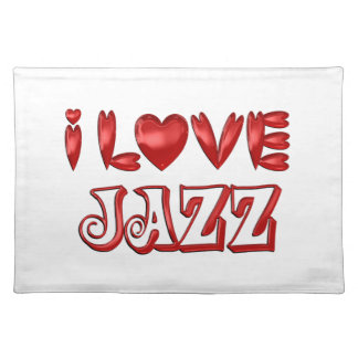 I Love Jazz Placemat