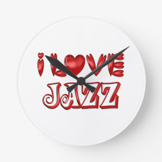 I Love Jazz Round Clock