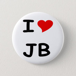 I love JB 2 Inch Round Button