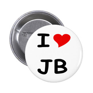I love JB 2 Inch Round Button