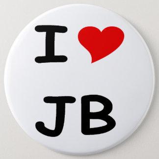 I love JB 6 Inch Round Button