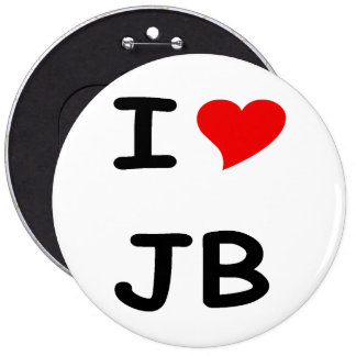 I love JB 6 Inch Round Button