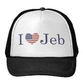 I Love Jeb Trucker Hat