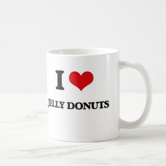 I Love Jelly Doughnuts Coffee Mug