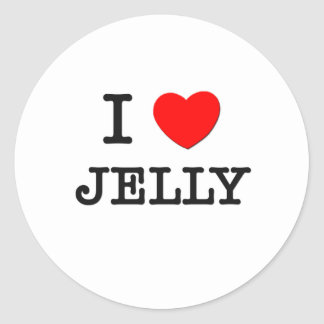 I Love Jelly Round Sticker