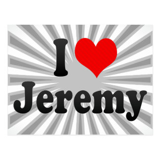I love Jeremy Postcard