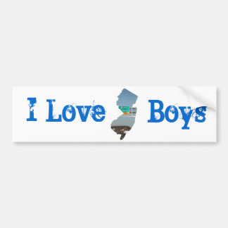 I Love jersey boys Bumper Sticker