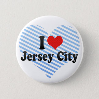 I Love Jersey City 2 Inch Round Button