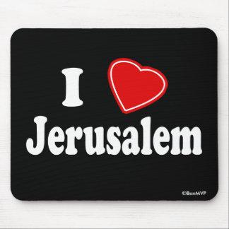 I Love Jerusalem Mouse Pad
