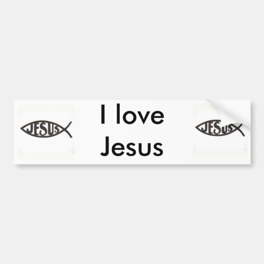 I love Jesus Bumpersticker Bumper Sticker
