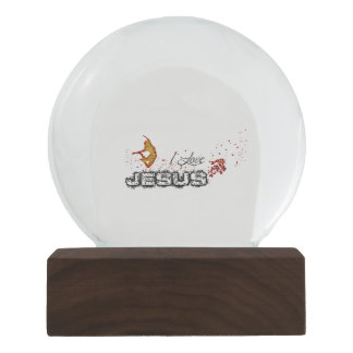 I love JESUS Jean 13:34-35 Snow Globe