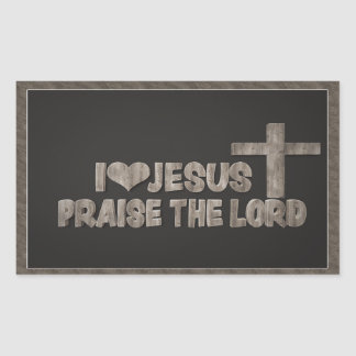 I Love Jesus - Praise The Lord Sticker