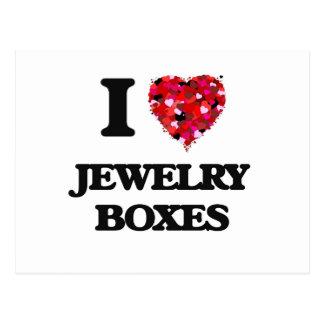 I Love Jewelry Boxes Postcard