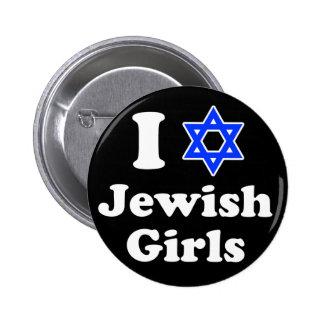 I Love Jewish Girls 2 Inch Round Button