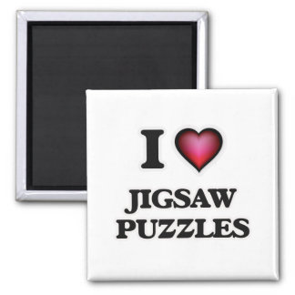 I Love Jigsaw Puzzles Magnet